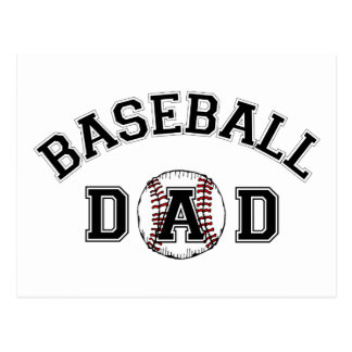 Papa de base-ball de fête des pères cartes postales