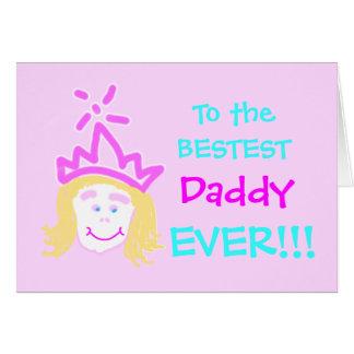 Papa de carte et de vers de fête des pères de prin