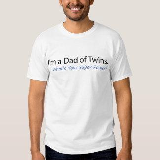 Papa de super pouvoir de jumeaux t shirt
