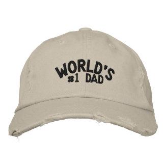 Papa du #1 du monde casquettes de baseball brodées
