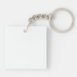 Papa-Eisbär Einseitiger Quadratischer Acryl Schlüsselanhänger