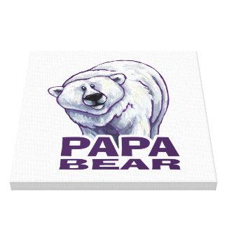Papa-Eisbär Leinwanddruck