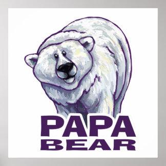 Papa-Eisbär Poster