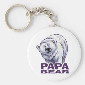 Papa-Eisbär Standard Runder Schlüsselanhänger