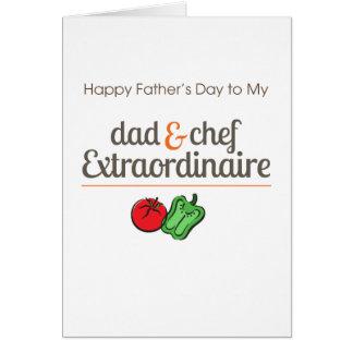 Papa et chef Extraordinaire Carte De Vœux