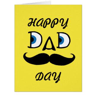 Papa - fête des pères heureuse carte de vœux grand format