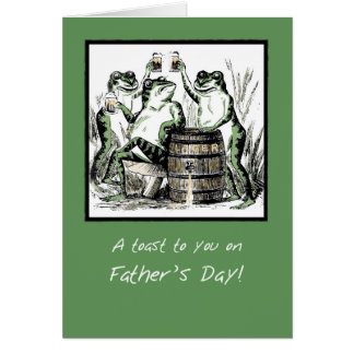 Papa, grenouilles drôles de fête des pères carte de vœux