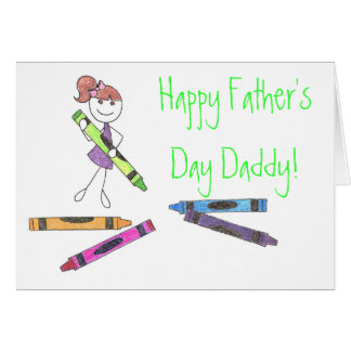 Papa heureux de fête des pères ! Carte