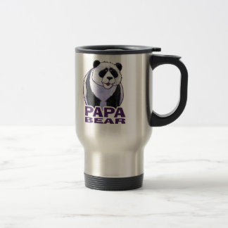 Papa-Panda-Bär Edelstahl Thermotasse