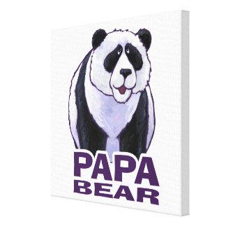 Papa-Panda-Bär Leinwand Druck
