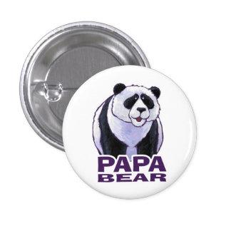 Papa-Panda-Bär Runder Button 2,5 Cm
