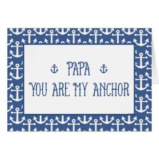 Papa-vous êtes ma fête des pères Ancre-Heureuse Carte De Vœux