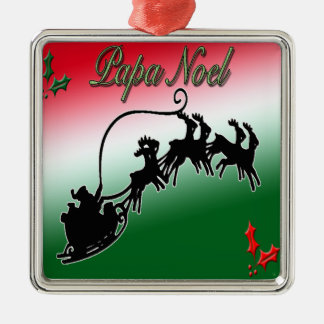 Papa-Weihnachten-Weihnachtsverzierung Silbernes Ornament