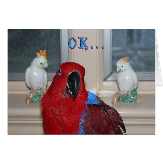 Papagei themenorientiert grußkarte