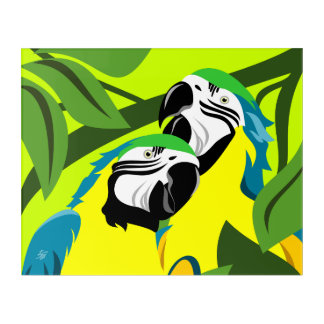 Papageien-abstrakte Kunst