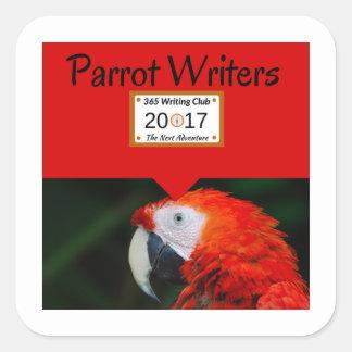 Papageien-Aufkleber! Quadratischer Aufkleber