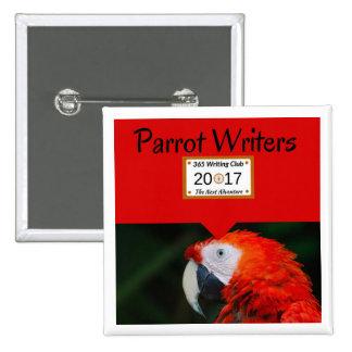 Papageien-Buttone! Quadratischer Button 5,1 Cm