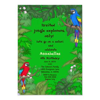 Papageien-Dschungel-Geburtstags-Einladung 12,7 X 17,8 Cm Einladungskarte