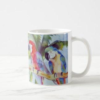 Papageien im Paradies Kaffeetasse