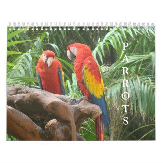 Papageien-Kalender Wandkalender