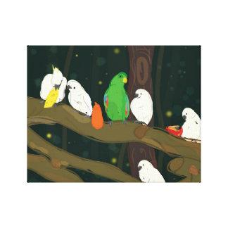 Papageien-Königreich Leinwanddruck
