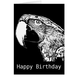 Papageien-Protest-alles- Gute zum Geburtstagkarte Grußkarte
