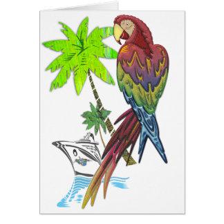 Papageien-tropische Kreuzfahrt Karte