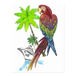 Papageien-tropische Kreuzfahrt Postkarte
