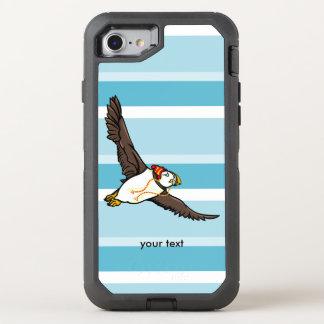 Papageientaucher, der einen Hut ein gestrickter OtterBox Defender iPhone 7 Hülle
