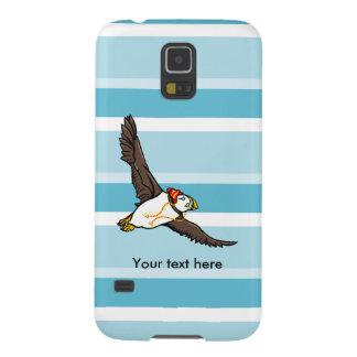 Papageientaucher, der einen Hut ein gestrickter Samsung S5 Cover