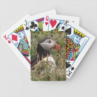 Papageientaucher im Gras Bicycle Spielkarten