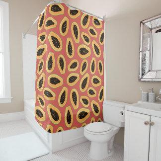 Papaya-Frucht Duschvorhang