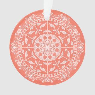 Papaya-Mandala Ornament