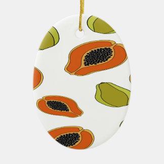 Papayafruchtmuster Keramik Ornament