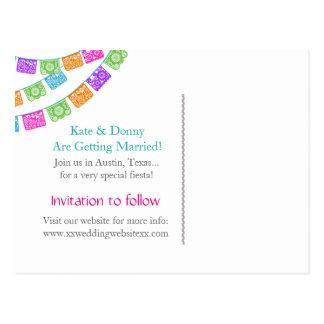 Papel Picado, das Save the Date Postkarte Wedding