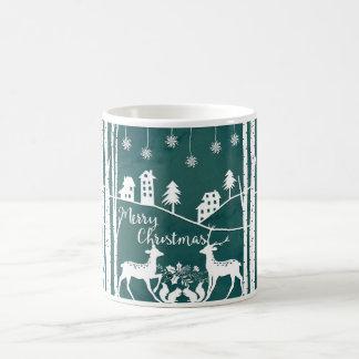 Papercut Effekt-WeihnachtsTasse Kaffeetasse