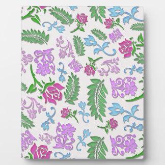 Papercut mit Blumen Fotoplatte
