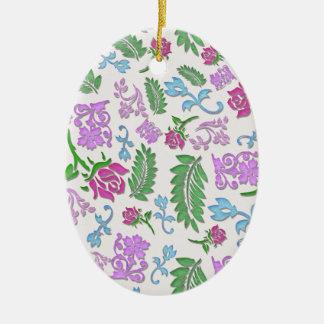 Papercut mit Blumen Keramik Ornament