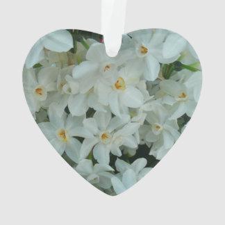 Paperwhite Narzissen-empfindliche weiße Blumen Ornament