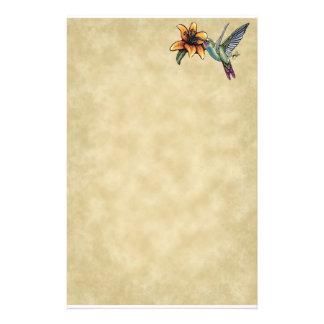 Papeterie féerique d'art de Lillie de tigre de col