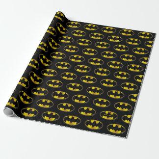 Papier Cadeau Logo ovale de gradient du symbole   de Batman