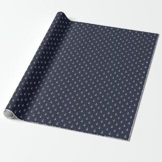 Papier Cadeau Papier d'emballage d'ancre de bleu marine