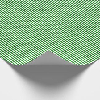 Papier Cadeau Papier d'emballage mince de rayures vertes et