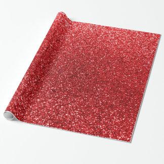 Papier Cadeau Scintillement rouge