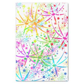 Papier Mousseline Étoile de feux d'artifice d'arc-en-ciel de papier