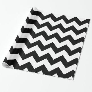Papier noir et blanc d'emballage cadeau de Chevron Papier Cadeau Noël
