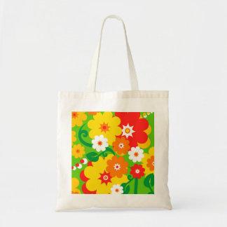 Papier peint drôle de flower power sac en toile budget