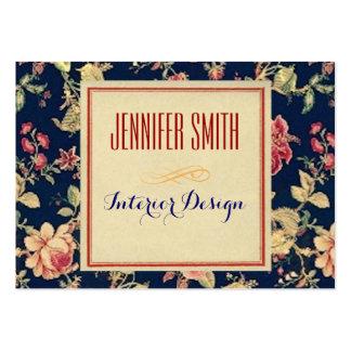 Papier rustique floral vintage carte de visite grand format