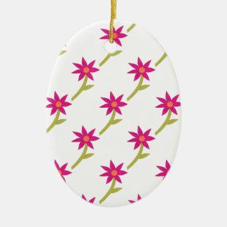 PapierBlumen-Muster Keramik Ornament