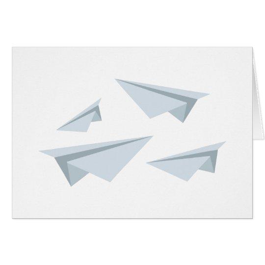 Papierflugzeuge Grußkarte